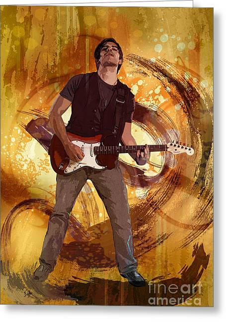 Grafitti Mixed Media Greeting Cards - Keep On Rockin Greeting Card by Bedros Awak