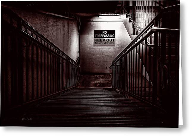 Basement Greeting Cards - Keep Out Danger Of Drowning Greeting Card by Bob Orsillo