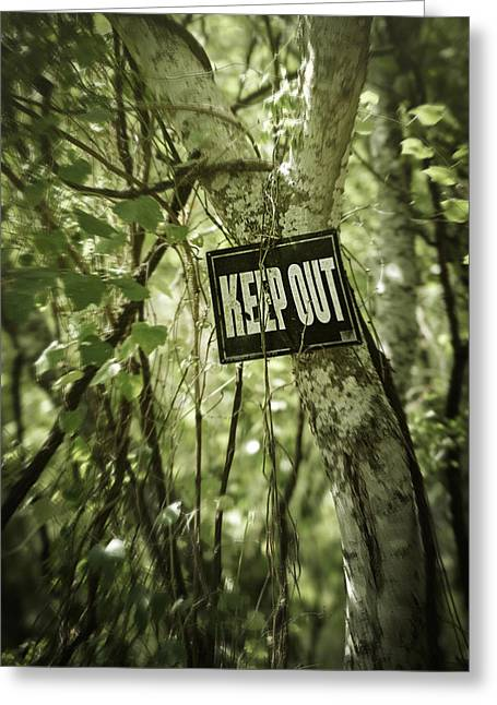 No Trespassing Greeting Cards - Keep Out Island Greeting Card by Trish Mistric