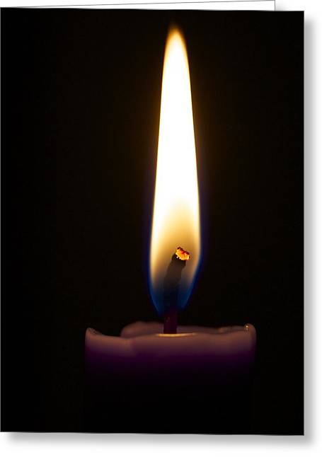 Keep The Flame Burning Bright Greeting Card by Jennifer Lamanca Kaufman