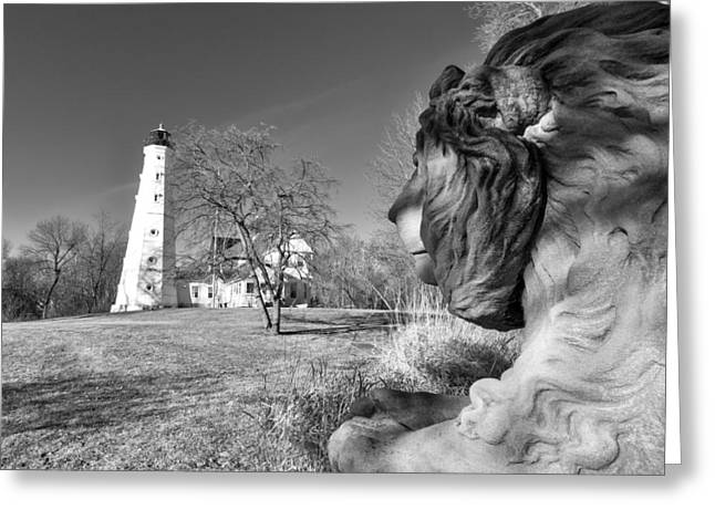 North Point Greeting Cards - Keeper of the LIghthouse Greeting Card by Lauri Novak