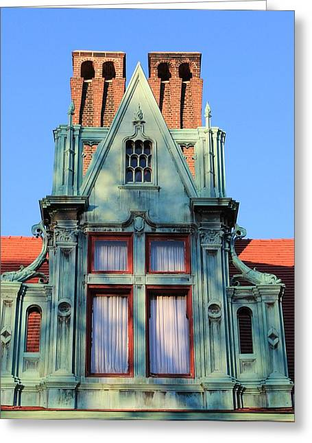 Historic Home Greeting Cards - Keeper Of The Past Greeting Card by Karen Silvestri