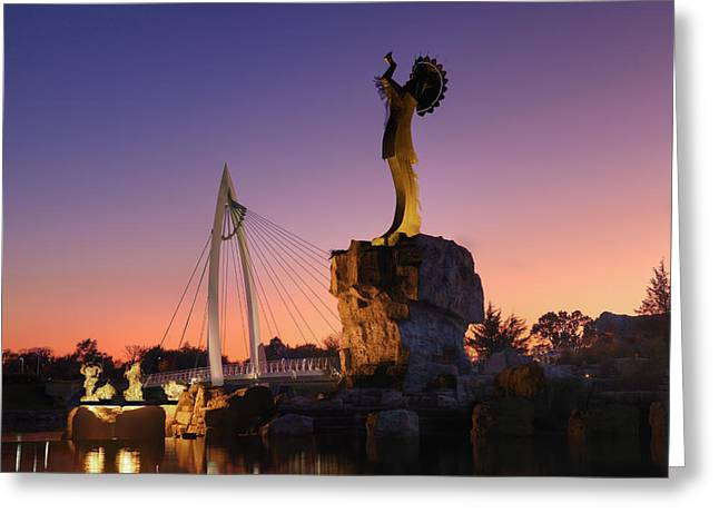Keeper Of The Plains Greeting Cards - Keeper of the Plains  Greeting Card by Paul Chauncey