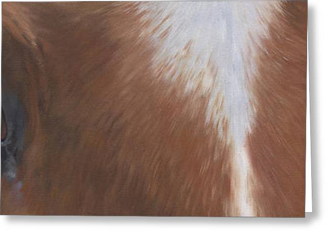 Quarter Horses Paintings Greeting Cards - Keepers Eyes Greeting Card by Alecia Underhill
