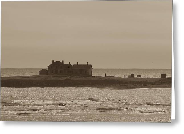 Ano Nuevo Photographs Greeting Cards - Keepers House Greeting Card by John Carey