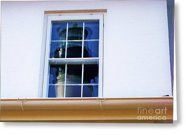 Black Top Greeting Cards - Keepers House Window Greeting Card by Chuck  Hicks
