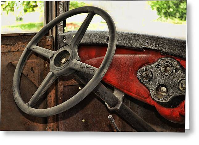 Rusted Cars Greeting Cards - Keeping It Simple Greeting Card by Kathy Jennings