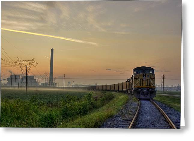 Keeping On Track Greeting Card by Larry Braun