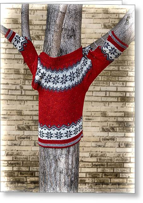 Asheville Mixed Media Greeting Cards - Keeping the Trees Warm Greeting Card by John Haldane