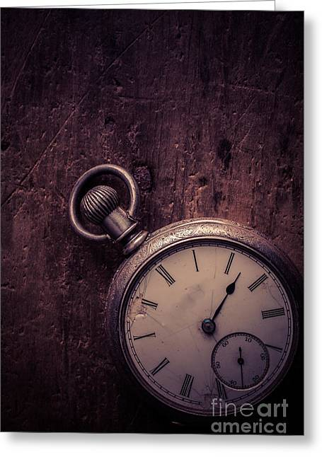 Clasped Greeting Cards - Keeping Time Greeting Card by Edward Fielding