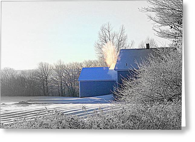 Annapolis Valley Greeting Cards - Keeping Warm Greeting Card by Karen Cook