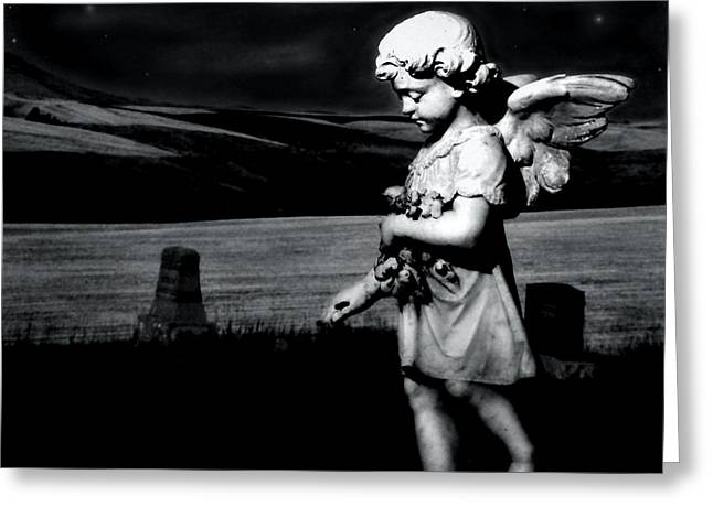 Night Angel Greeting Cards - Keeping Watch Greeting Card by Doug Fredericks