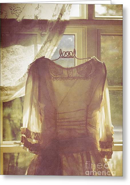 Dress Form Greeting Cards - Keeping Watch Greeting Card by Margie Hurwich