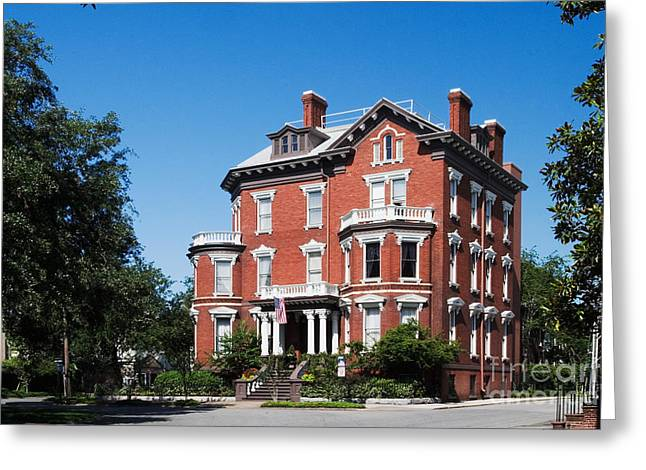 Historic Home Greeting Cards - Kehoe House Greeting Card by David Davis