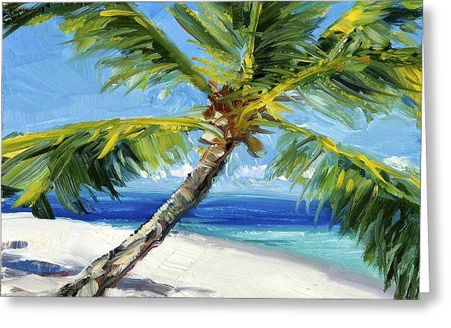 Lahaina Greeting Cards - Keiki Palm Greeting Card by Stacy Vosberg