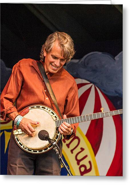 Blissfest Greeting Cards - Keith Little of the Peter Rowan Bluegrass Band Greeting Card by Bill Gallagher