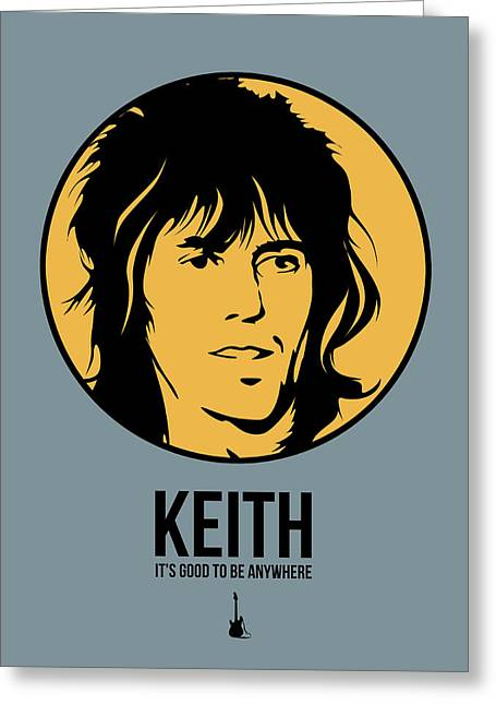Stones Greeting Cards - Keith Poster 1 Greeting Card by Naxart Studio