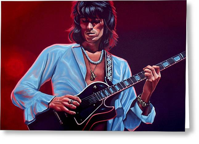 Stages Greeting Cards - Keith Richards 2 Greeting Card by Paul Meijering