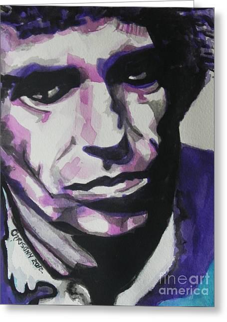 Keith Richards Greeting Card by Chrisann Ellis