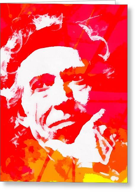 Keith Richards Greeting Card by Dan Sproul