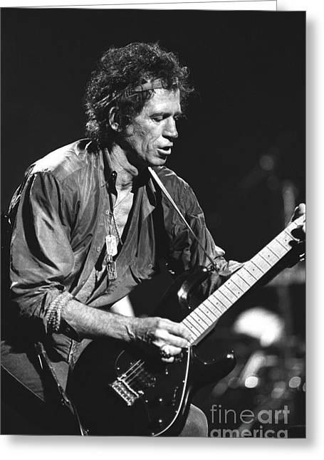Keith Richards Greeting Card by Concert Photos