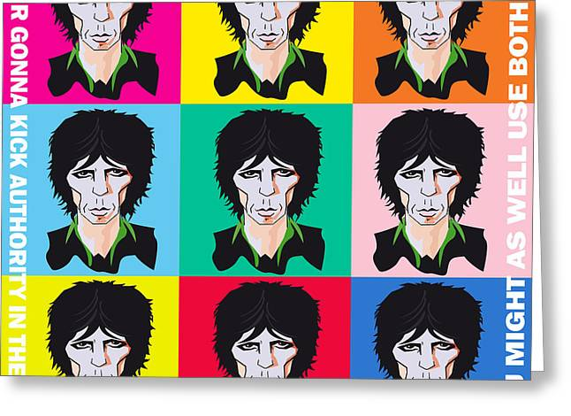 Hockey Heroes Greeting Cards - Keith Richards If Your Gonna Greeting Card by Neil Finnemore