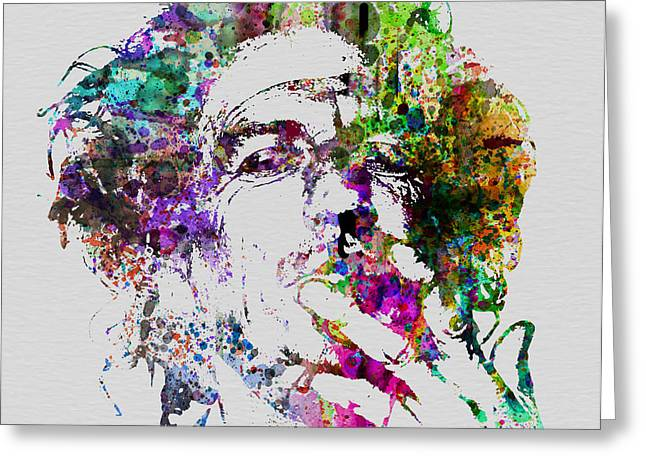 Portrait Greeting Cards - Keith Richards Greeting Card by Naxart Studio