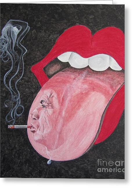 Keith Richards Greeting Card by Jeepee Aero
