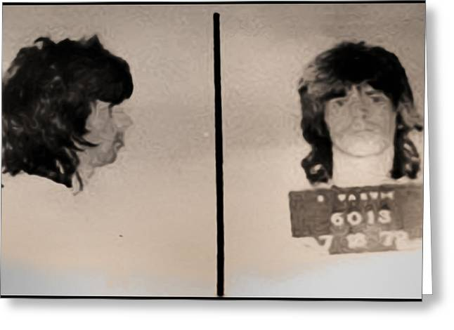 Rolling Stones Digital Art Greeting Cards - Keith Richards Mugshot - Keith Dont Go Greeting Card by Bill Cannon