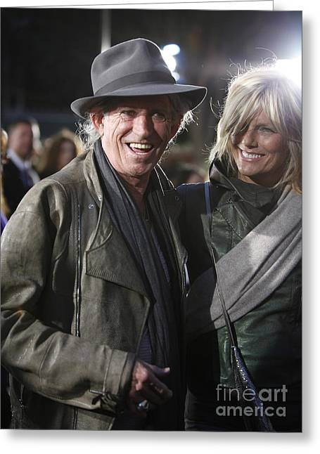 Keith Richards Greeting Card by Nina Prommer