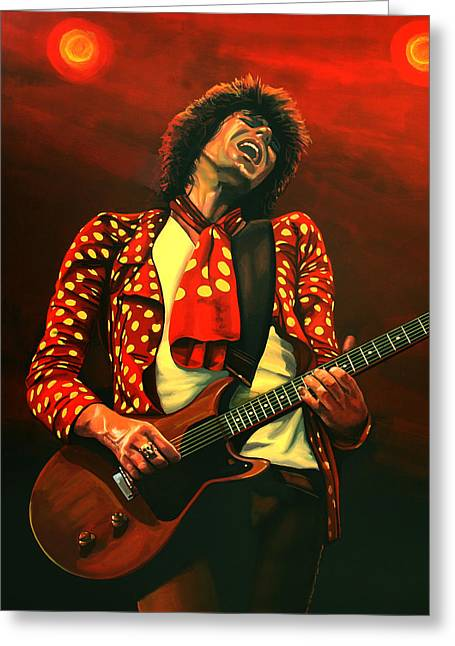 Keith Richards Painting Greeting Card by Paul Meijering