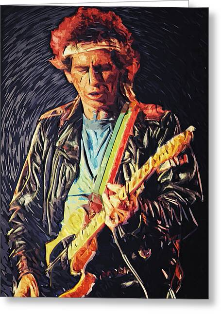 Johnny Depp Poster Greeting Cards - Keith Richards Greeting Card by Taylan Soyturk