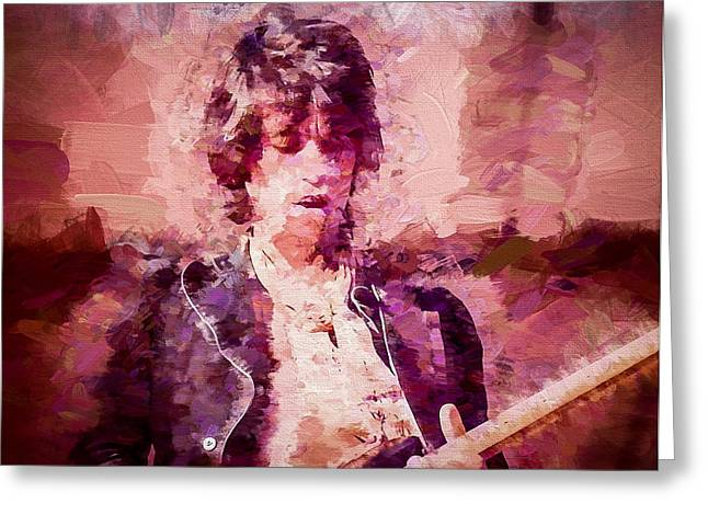 The Glimmer Twins Greeting Cards - Keith Richards Greeting Card by Vivian Frerichs