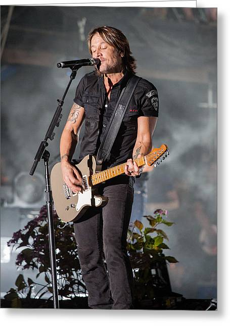 Live Music Greeting Cards - Keith Urban 1 Greeting Card by Mike Burgquist