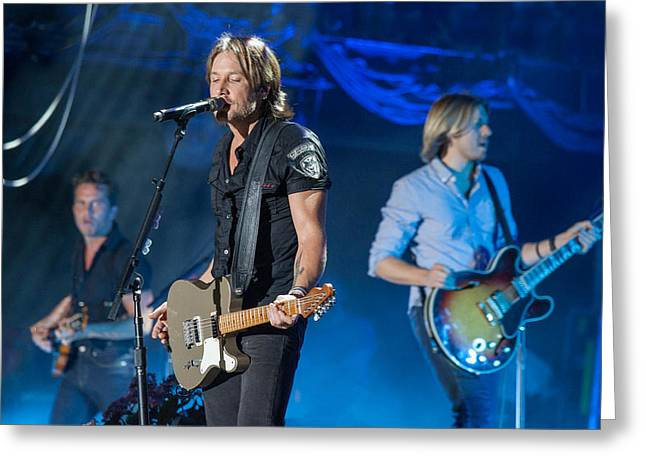 Live Music Greeting Cards - Keith Urban 2 Greeting Card by Mike Burgquist