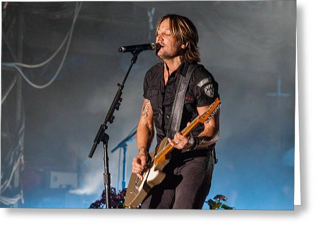 Live Music Greeting Cards - Keith Urban 3 Greeting Card by Mike Burgquist