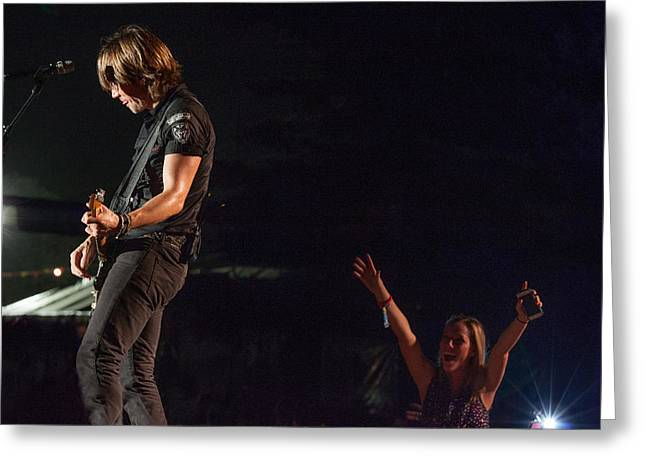 Live Music Greeting Cards - Keith Urban 4 Greeting Card by Mike Burgquist