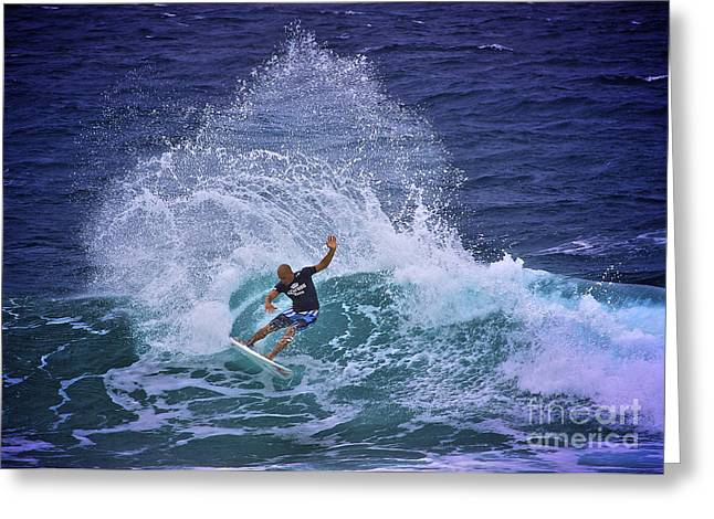 Kelly Slater Greeting Cards - Kelly Slater 2 Greeting Card by Heng Tan