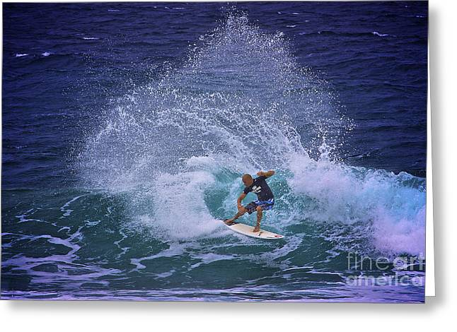 Kelly Slater Greeting Cards - Kelly Slater 3 Greeting Card by Heng Tan