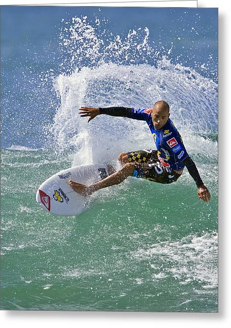 Kelly Slater Greeting Cards - Kelly Slater  EOM7785 Greeting Card by David Orias