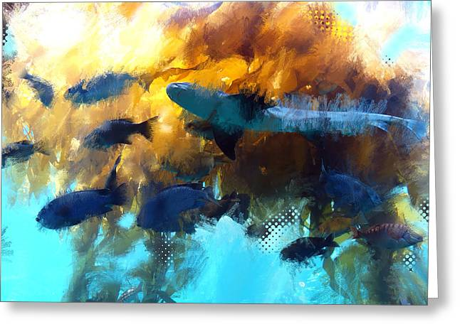Kelp Forest Greeting Cards - Kelp Forest Greeting Card by James Metcalf