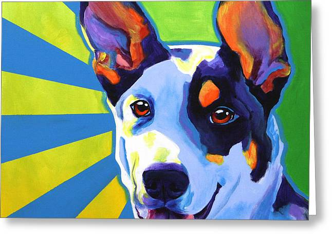 Happy Colors Greeting Cards - Kelpie - Oakey Greeting Card by Alicia VanNoy Call