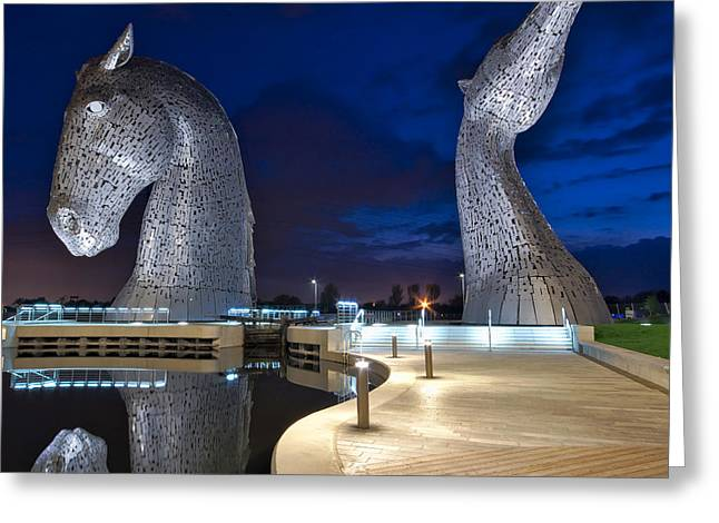 Kelpie Photographs Greeting Cards - Kelpies Greeting Card by David Peat