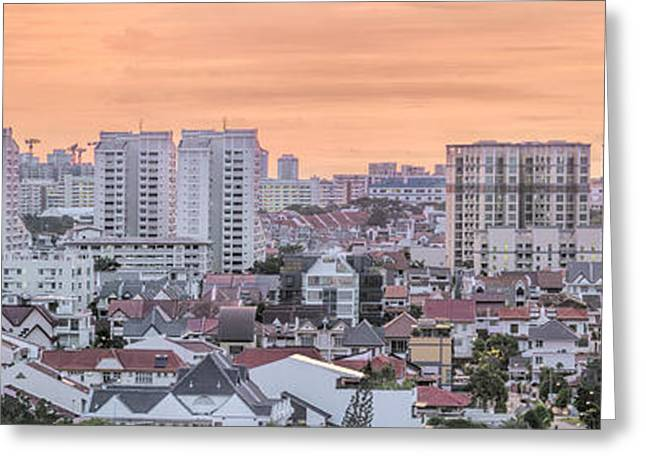 Planned Community Greeting Cards - Kembangan Residential Area in Singapore Greeting Card by JPLDesigns