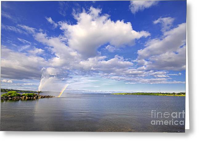Barrie Greeting Cards - Kempenfelt Bay Cloudscape Greeting Card by Charline Xia