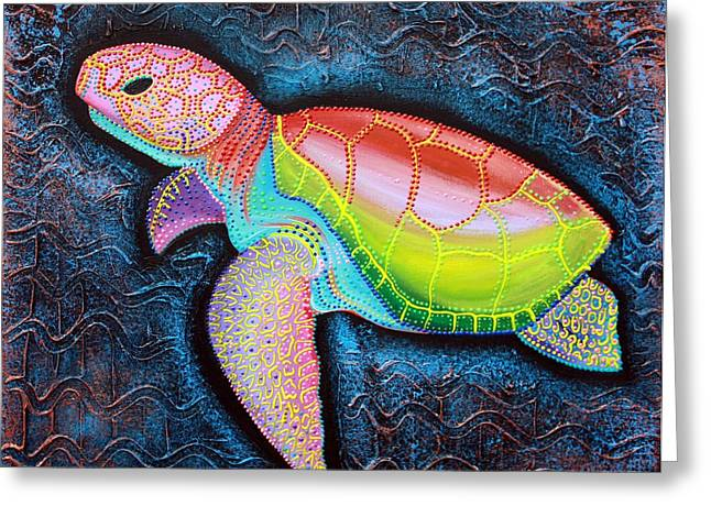 Kemp Greeting Cards - Kemps Ridley Sea Turtle Greeting Card by Laura Barbosa