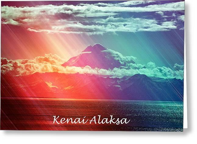Kenai Alaska Mount Redoubt Greeting Card by Debra  Miller