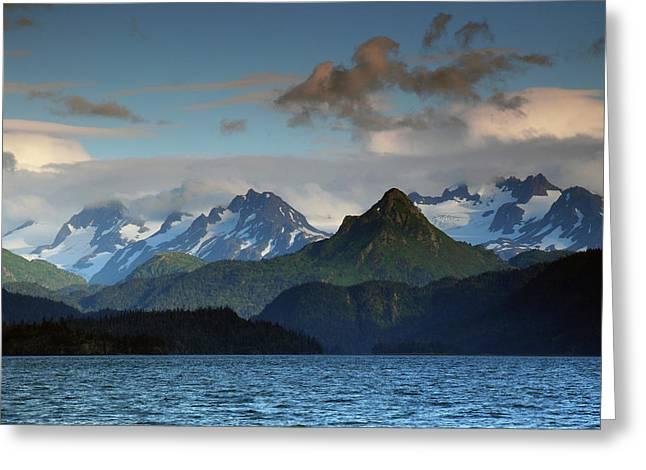 Kenai Mountains And Kachemak Bay Greeting Card by Michel Hersen