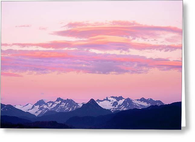 Kenai Mountains At Sunrise Greeting Card by Tom Norring
