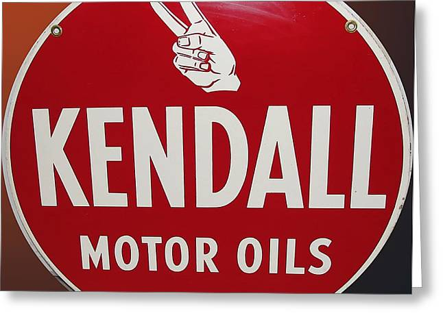 Kendall Greeting Cards - Kendall Motor Oils Greeting Card by Marvin Blaine
